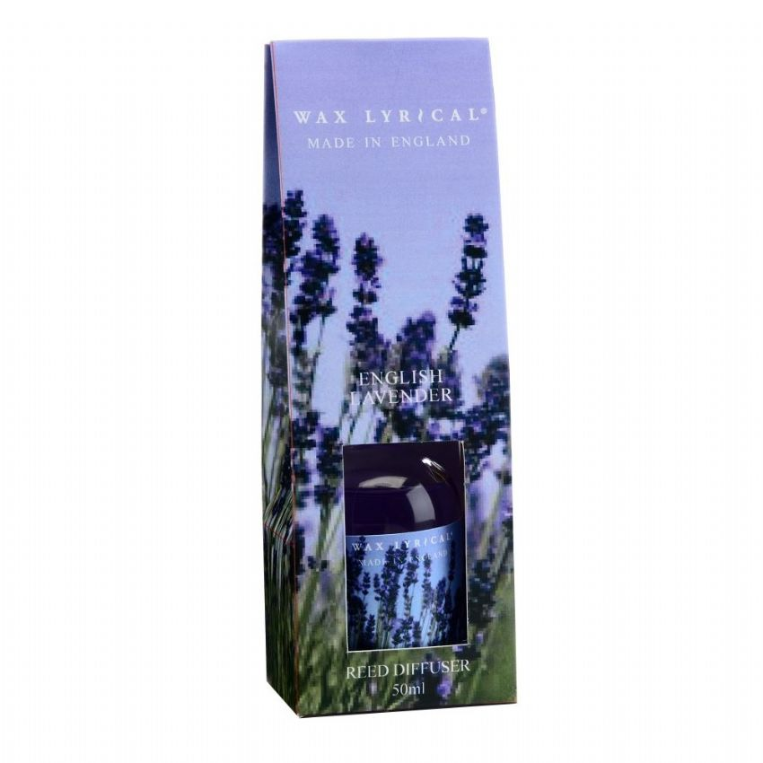 English Lavender Fragranced Mini Reed Diffuser Made In England Wax Lyrical 50ml